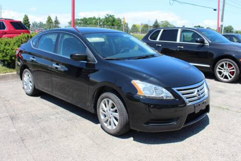 2015 Nissan Sentra for sale at Peninsula Motor Vehicle Group in Oakville NY