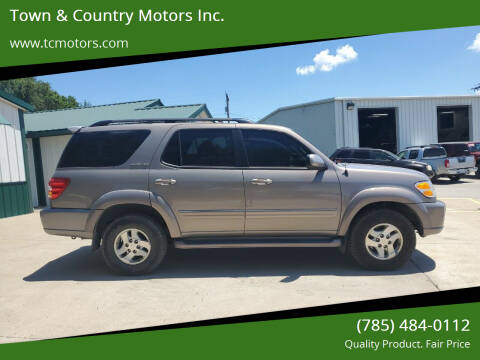 2002 Toyota Sequoia for sale at Town & Country Motors Inc. in Meriden KS