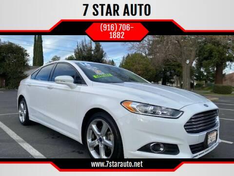 2016 Ford Fusion for sale at 7 STAR AUTO in Sacramento CA
