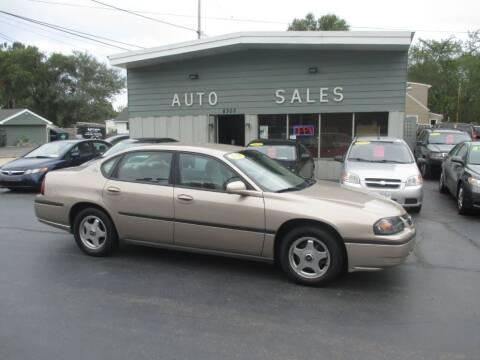2003 Chevrolet Impala for sale at SHEFFIELD MOTORS INC in Kenosha WI