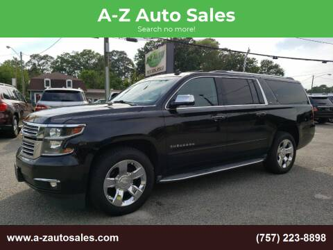 2015 Chevrolet Suburban for sale at A-Z Auto Sales in Newport News VA