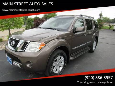 2008 Nissan Pathfinder for sale at MAIN STREET AUTO SALES in Neenah WI