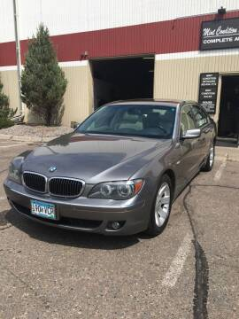 2008 BMW 7 Series for sale at Specialty Auto Wholesalers Inc in Eden Prairie MN