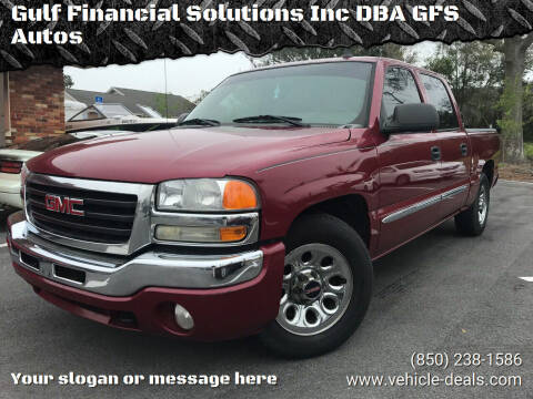 2006 GMC Sierra 1500 for sale at Gulf Financial Solutions Inc DBA GFS Autos in Panama City Beach FL