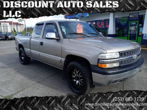 1999 Chevrolet Silverado 1500 for sale at DISCOUNT AUTO SALES LLC in Spanaway WA