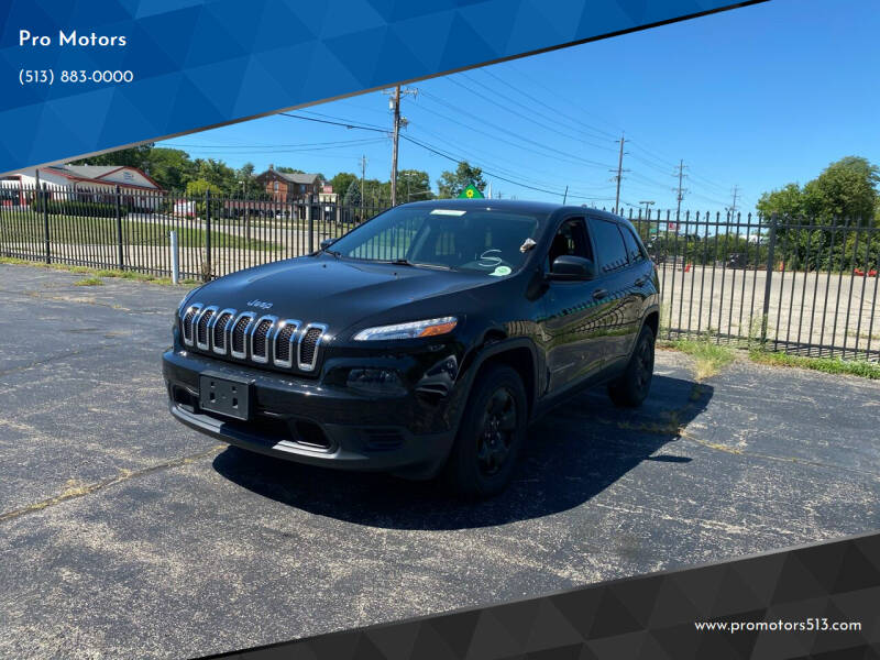 2017 Jeep Cherokee for sale at Pro Motors in Fairfield OH