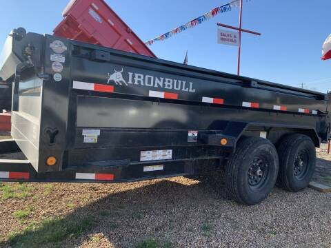 2022 IRON BULL  - 7 X 14  - Tarp - 3 Way Gate for sale at LJD Sales in Lampasas TX