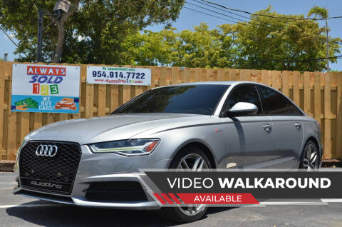 2016 Audi A6 for sale at ALWAYSSOLD123 INC in Fort Lauderdale FL
