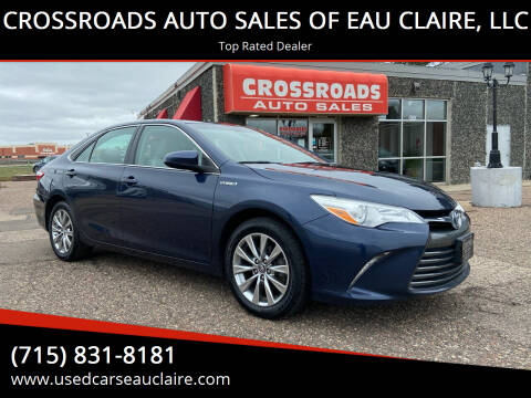 2017 Toyota Camry Hybrid for sale at CROSSROADS AUTO SALES OF EAU CLAIRE, LLC in Eau Claire WI