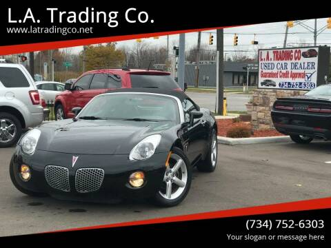 2009 Pontiac Solstice for sale at L.A. Trading Co. in Woodhaven MI