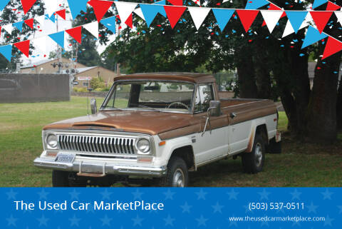 1974 Jeep J-10 Pickup for sale at The Used Car MarketPlace in Newberg OR