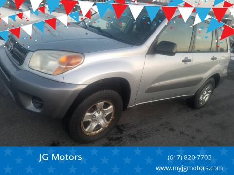 2004 Toyota RAV4 for sale at JG Motors in Worcester MA