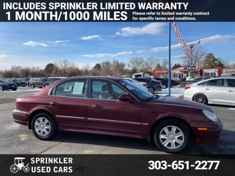 2002 Hyundai Sonata for sale at Sprinkler Used Cars in Longmont CO