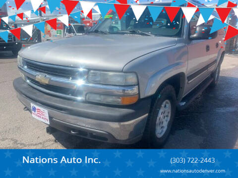 2005 Chevrolet Suburban for sale at Nations Auto Inc. in Denver CO