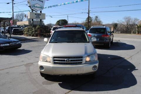 2002 Toyota Highlander for sale at HODGE MOTORS in Bristol TN