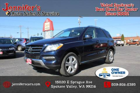 2014 Mercedes-Benz M-Class for sale at Jennifer's Auto Sales in Spokane Valley WA