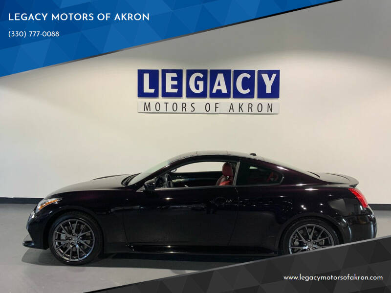 2012 Infiniti G37 Coupe for sale at LEGACY MOTORS OF AKRON in Akron OH