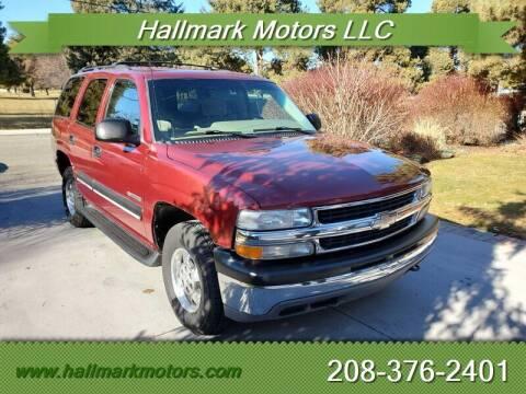 2001 Chevrolet Tahoe for sale at HALLMARK MOTORS LLC in Boise ID