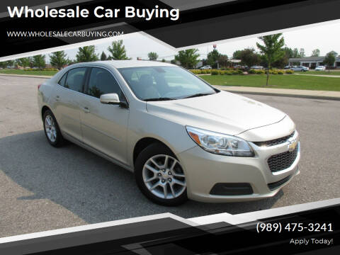 2015 Chevrolet Malibu for sale at Wholesale Car Buying in Saginaw MI