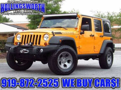 2012 Jeep Wrangler Unlimited for sale at Hollingsworth Auto Sales in Raleigh NC