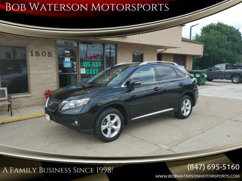 2011 Lexus RX 350 for sale at Bob Waterson Motorsports in South Elgin IL