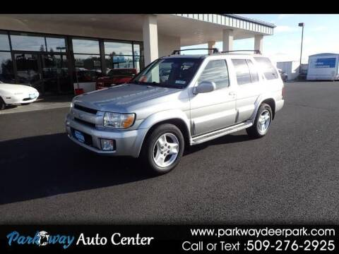 2003 Infiniti QX4 for sale at PARKWAY AUTO CENTER AND RV in Deer Park WA