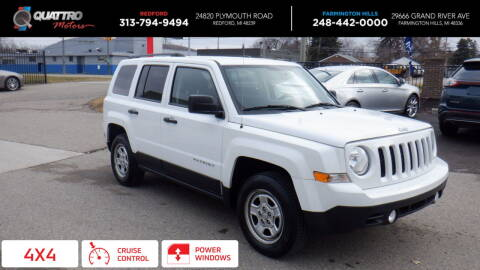 2017 Jeep Patriot for sale at Quattro Motors 2 - 1 in Redford MI