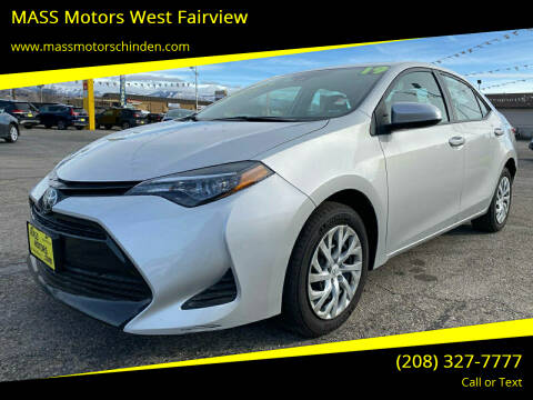 2019 Toyota Corolla for sale at MASS Motors West Fairview in Boise ID