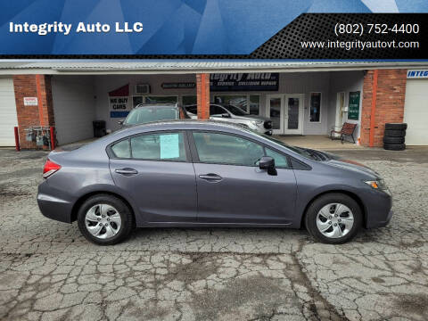 2014 Honda Civic for sale at Integrity Auto LLC - Integrity Auto 2.0 in St. Albans VT
