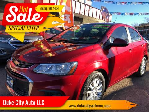 2017 Chevrolet Sonic for sale at Duke City Auto LLC in Gallup NM