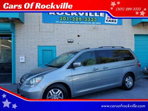 2006 Honda Odyssey for sale at Cars Of Rockville in Rockville MD
