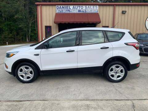 2017 Ford Escape for sale at Daniel Used Auto Sales in Dallas GA