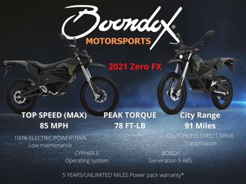2021 Zero FX ZF7.2 for sale at Boondox Motorsports in Caledonia MI