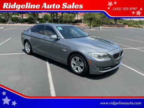 2011 BMW 5 Series for sale at Ridgeline Auto Sales in Saint George UT