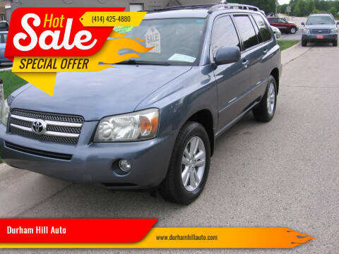 2006 Toyota Highlander Hybrid for sale at Durham Hill Auto in Muskego WI