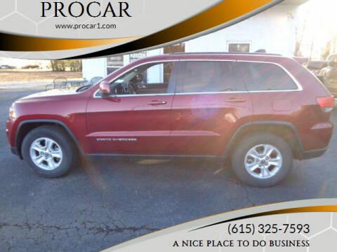 2015 Jeep Grand Cherokee for sale at PROCAR LLC in Portland TN