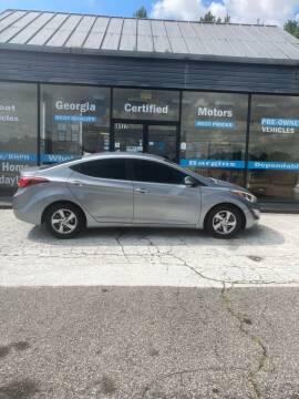 2015 Hyundai Elantra for sale at Georgia Certified Motors in Stockbridge GA