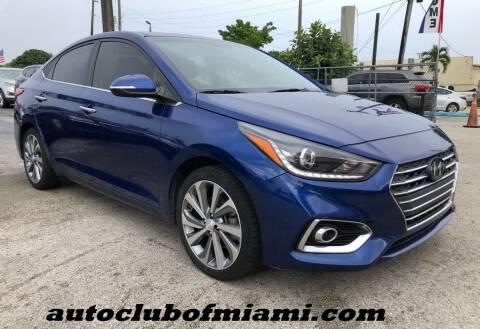 2018 Hyundai Accent for sale at AUTO CLUB OF MIAMI, INC in Miami FL