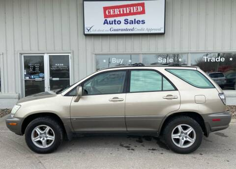 2001 Lexus RX 300 for sale at Certified Auto Sales in Des Moines IA