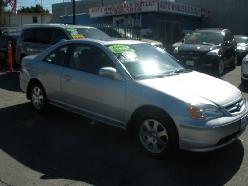 2003 Honda Civic for sale at AUTO WHOLESALE OUTLET in North Hollywood CA