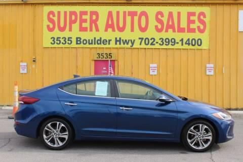 2017 Hyundai Elantra for sale at Super Auto Sales in Las Vegas NV