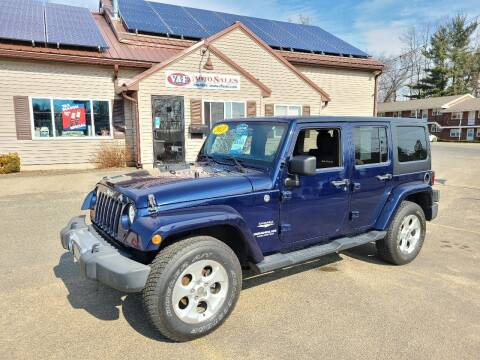 2013 Jeep Wrangler Unlimited for sale at V & F Auto Sales in Agawam MA