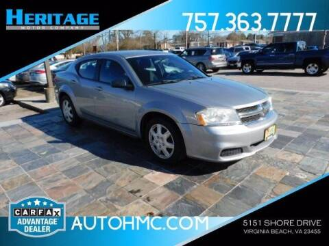 2014 Dodge Avenger for sale at Heritage Motor Company in Virginia Beach VA
