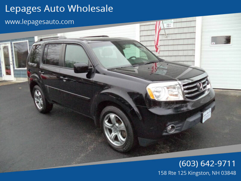 2014 Honda Pilot for sale at Lepages Auto Wholesale in Kingston NH
