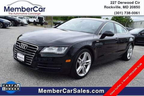 2013 Audi A7 for sale at MemberCar in Rockville MD