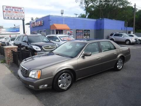 2002 Cadillac DeVille for sale at City Motors Auto Sale LLC in Redford MI