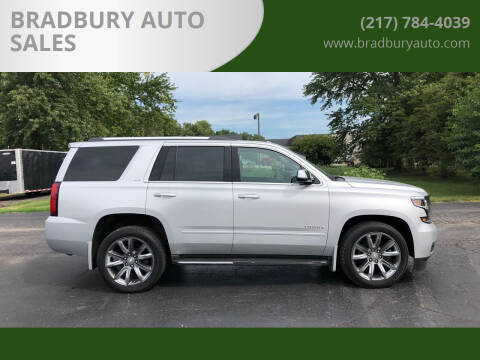 2015 Chevrolet Tahoe for sale at BRADBURY AUTO SALES in Gibson City IL