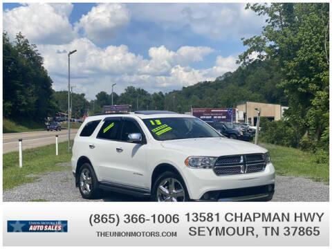 2013 Dodge Durango for sale at Union Motors in Seymour TN