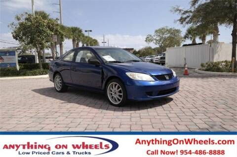 2005 Honda Civic for sale at JumboAutoGroup.com - Anythingonwheels.com in Oakland Park FL