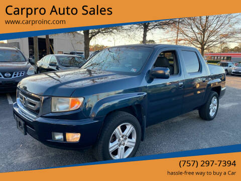 2009 Honda Ridgeline for sale at Carpro Auto Sales in Chesapeake VA